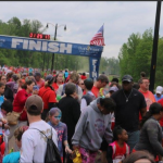 finish line crowd